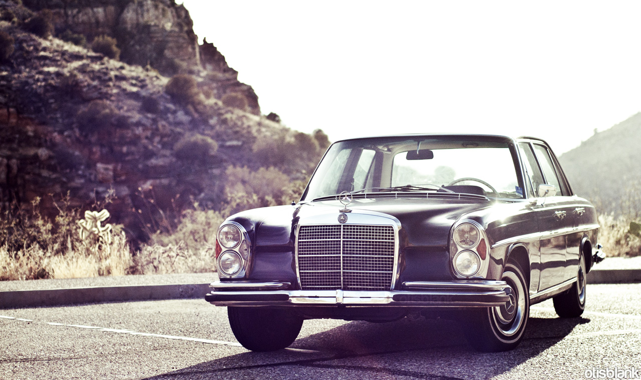 Took the w108 up mt lemmon otis blank for Mercedes benz 108